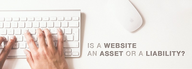 Is a website an asset or liability?